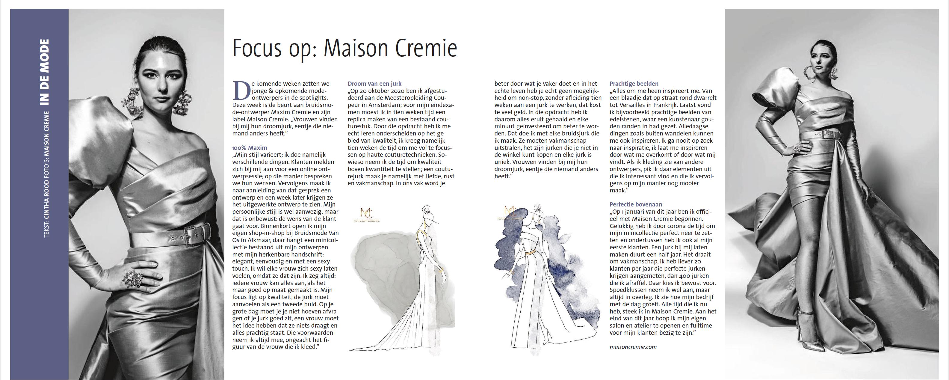 Maison Cremie in het NH dagblad